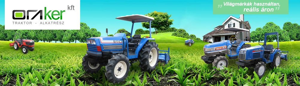 Oraker Kft - japán kistraktorok, hazsnált japán traktorok, Kubota, Iseki, Yanmar, Mitsubishi, Shibaura